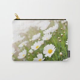 White chamomiles herb flowering plant Carry-All Pouch