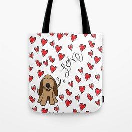 Hound Dog Love Tote Bag