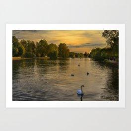 Thames Sunset At Marlow Art Print