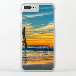 Sunset Splash Clear iPhone Case
