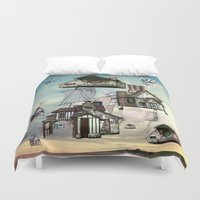 house Duvet Covers featuring house by Кaterina Кalinich
