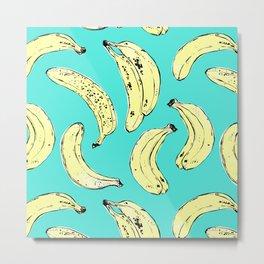 Bananas in green Metal Print