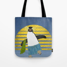 Northern Rockhopper Penguin on Spring Break Tote Bag