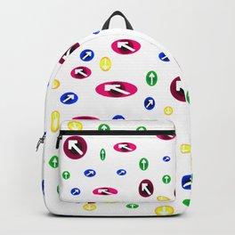 Numerosas flechas de colores apuntando a direcciones Backpack