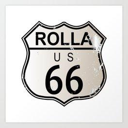 Rolla Route 66 Art Print