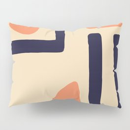 Coral and Blue Pillow Sham