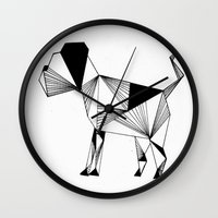 the hound Wall Clocks featuring Hound by LAGOM