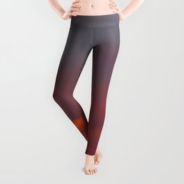 Red cloud shining at sunset Leggings