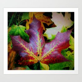 Autumn Leaves - Colored Glass Art Print