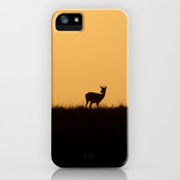 Silhouetted gazelles iPhone Case