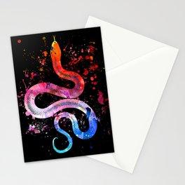 Snake Blacky Black Stationery Cards