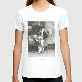 Erotic old print The connoisseur art Giovanni Boldini T-shirt