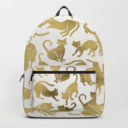 Cat Positions – Gold Palette Backpack