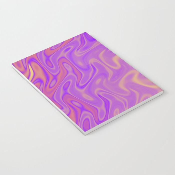 Ripples Fractal in Tropical Punch Notebook