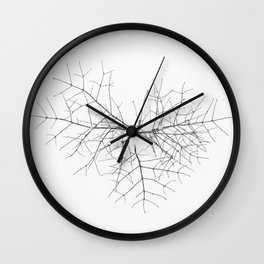 Heart in snow Wall Clock