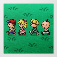 earthbound Canvas Prints featuring Earthbound Guys by likelikes