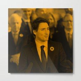 Justin Trudeau - Celebrity Metal Print