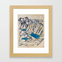 Triple Alpine Lakes :: Valhallas Framed Art Print