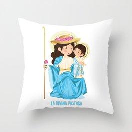 The Divine Shepherdess Throw Pillow