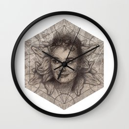 Audrey Hepburn dot work portrait Wall Clock