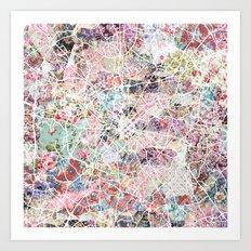 Charlotte map Art Print