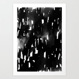 abstract BLACK&WHITE Art Print