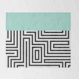 The Maze Throw Blanket