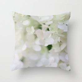 Hydrangea in Full Bloom -Flower Photography Throw Pillow