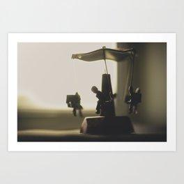 Miniature Carousal  Art Print