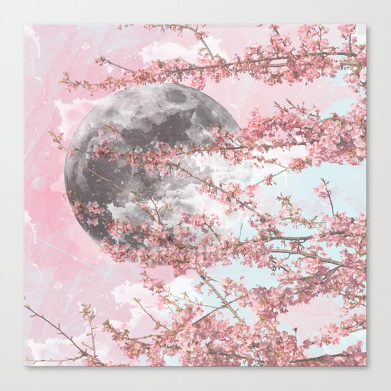 Spring Moon Canvas Print