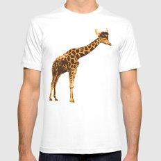 Giraffe Viking MEDIUM White Mens Fitted Tee