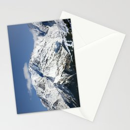 Mt. Blanc with clouds Stationery Cards