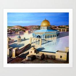 Dome of the rock-JERUSALEM Art Print