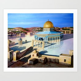 Dome of the rock-JERUSALEM Art Print