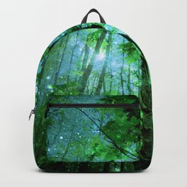 Forest Of The Fairies Green Blue Backpack