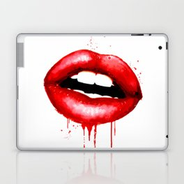 Red Lips Watercolor Print Fashion Poster Art Lipstick Chic Make Up Laptop & iPad Skin