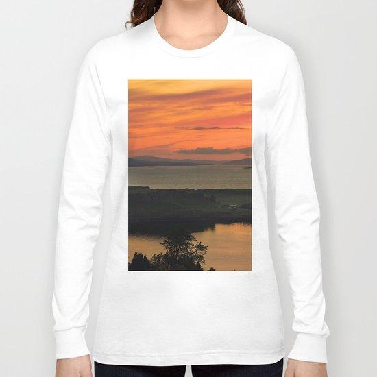Sunset Over Kerrera Isle Long Sleeve T-shirt