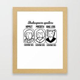 Shakespeare Quote Spoiler Hamlet Teacher Gift Framed Art Print