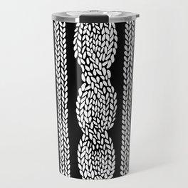 Cable Black Travel Mug