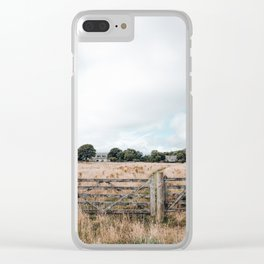 Wheat field in Scotland Clear iPhone Case