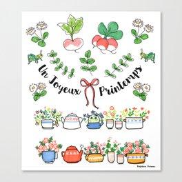 Un joyeux printemps Canvas Print