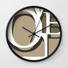 Love Typo #society6 #decor #buyart Wall Clock