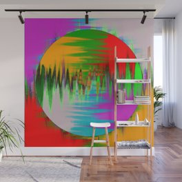 Colour Interference - Abstract colour painting Wall Mural