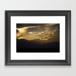Shaded Mountains Framed Art Print