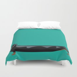 dachshund - wiener dog - i love my wiener Duvet Cover