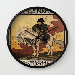 """Vintage poster - """"New Life of Napoleon"""" Wall Clock"""