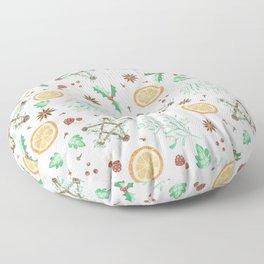 Pagan Yule Solstice Pattern Floor Pillow