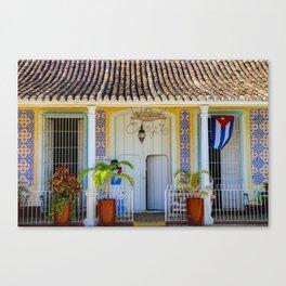 Restaurante de Trinidad Canvas Print