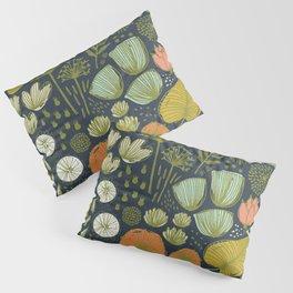 Botanical Sketchbook M+M Navy by Friztin Pillow Sham