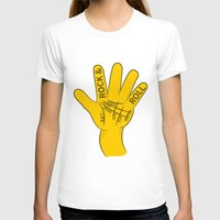 rock and roll T-shirts featuring Palmistry Rock and Roll by mailboxdisco